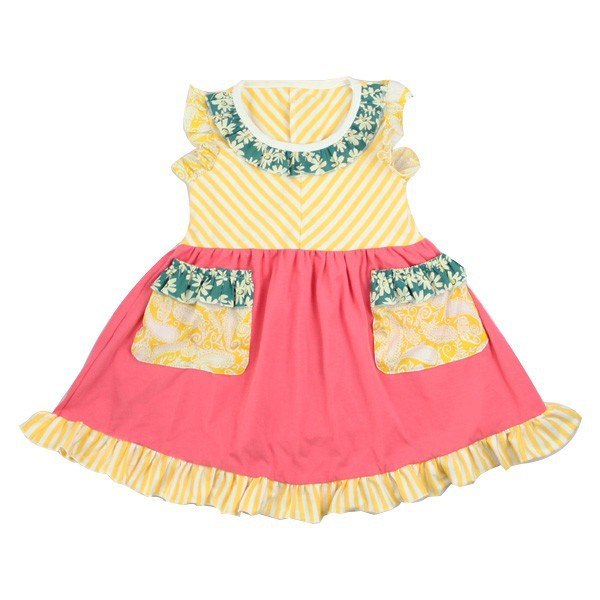 Wholesale Toddler Dresses With Two Pockets Baby Kids ...