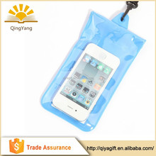 promotional clear summer water proof pvc mobile phone carry bag