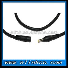 Macho a hembra de alimentación cable de extensión 5.5 2.5mm cable de cc