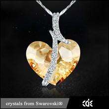 Crystals form Swarovski Jewelry Fashion 925 Sterling Silver Necklace 2015