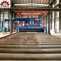 abrasive anti-rust buffing dust collection CE Certification H Beam Steel Sand Blast Machine / Electric Sandblasting Equipment