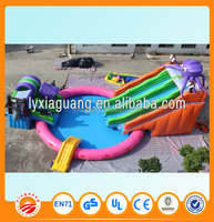 2015 new Chinese factory price customized style and size giant inflatable water slide for sale