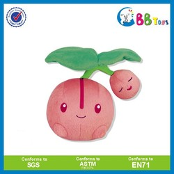 Wholesale plush fruit and vegetable kids toy plush tomato keychain
