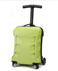 best price with adjustable size pc abs carry-on business luggage