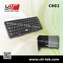 Bluetooth Folding keyboard for Ipad Windows Android (C602) Silvery/Black