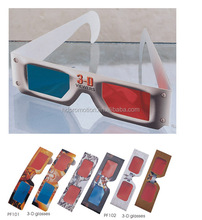 2015 cheap funny 3D Plastic paper anaglyph Glasses
