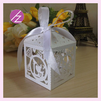 Party supplies assorted colours cake decoration favor boxes laser cut wedding arabic cake box TH-232