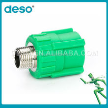 PPR pipe fittings male threaded plastic coupling