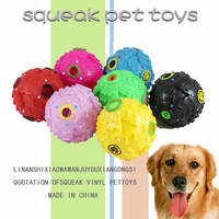 Wholesale pet toys squeaky rubber ball for dog