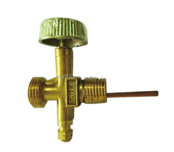 ISO gas cylinder using brass nipple valve