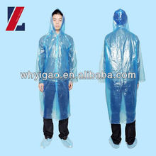 Disposable raincoat print logo hooded poncho