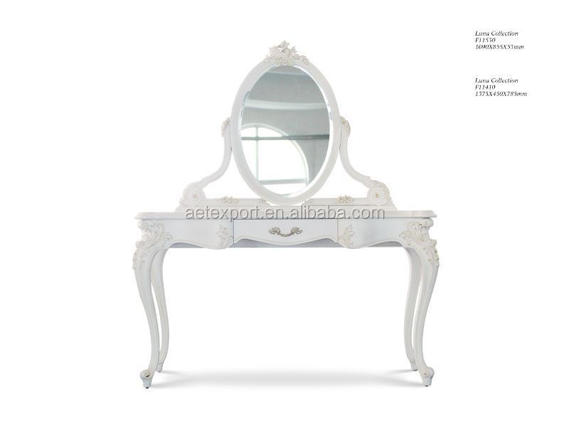 French Style Bedroom Furniture White Dressing Table Wood Dresser