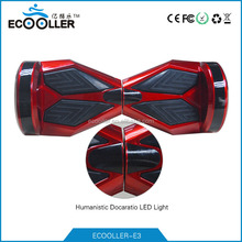 2 wheels self balancing scooter / hover board / skateboard / monorover with bluetooth music & colorful led hight