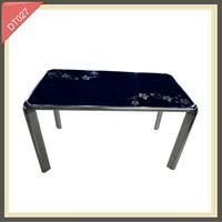 wood and glass top high quality dining table from Chinese furniture manufacturers