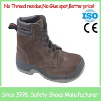 SF19007 Dark brown anti slip protection shoes light weight sport safety shoes