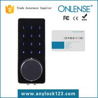 Electronic deadbolt keypad card door lock