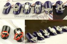 2015 Fashional HQ Alloy DIY nail Jewelry wholesales 3D Nail Art