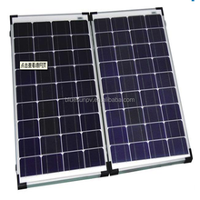 Bluesun cheap price camping use 100w portable folding solar panel kits