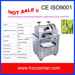 China lowest price of electric sugarcane juice making machine with CE certificate