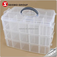Green Clear Stackable Moving Hard Plastic Jewelry Box