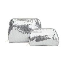 Secret Sparkling Sequin Cosmetic Bag Wristlet Makeup Case Clutch Purse