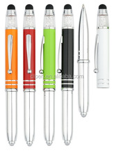 promotional items made in china unique pen with stylus stylus pen with light
