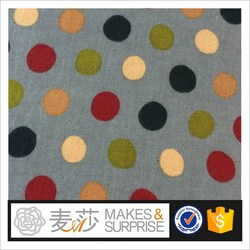 Y37B1006 domastic marhet dot design with 3 color for pajamas 21*21 cotton serge/flannel /brushed printed for Pajamas 100% cotton