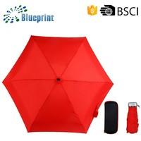 Very Popular 2014 Promotion Cheap Women 5 Fold Mini Umbrella Gift Bags