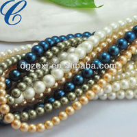 loose round glass peal,jewellery and pearls