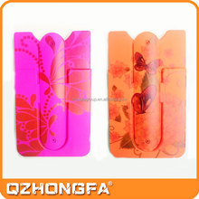 3m sticker pouch silicone card holder for iphone