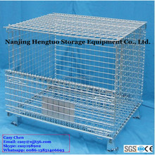 Heavy Duty Storage Folding Wire Mesh Cage with Lid