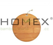 Round Handmade Bamboo Cutting Board /Wooden Chopping Block /Wood Cutting Sheets/Homex_FCS/BSCI