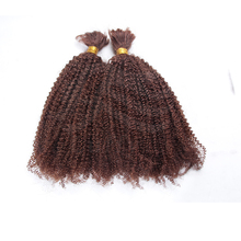 Chinese produce Mongolian human hair bulk hair for braid top quality curly hair bulk original
