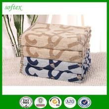 100% cotton yarn dyed jacquard alphabet beach towel