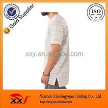 Latest fashion brand quality clothes,sub fabric blank longline style t-shirt,vintage split step hem t shirts