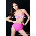 2013 moda rosa pontos de cintura alta Bikini