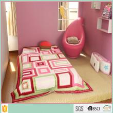 wholesale100% cotton reactive printed kids quilt customize bedding set
