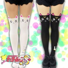 New Sailormoon Luna and Artemis Cat Thigh Stockings Leggings Pantyhose Cosplay Costume 2 Colors KK595