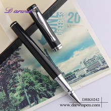 Luxury metal pen set packed in box with logo