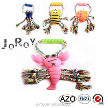 Fashionable durable rope rubber pet dog toys direct supplier from china