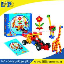 Bricolaje bloques de juguetes, estilos 4 ladrillo conjunto, bloques de construcción de juguetes