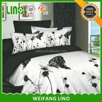 custom printed bed sheets/dandelion printed bedding set/bed sheets with dog print