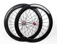 Solotoo rouge R36 hubs céramique nipples de carbone pas cher roues pour vélo