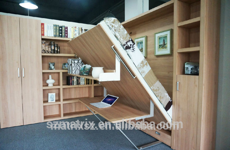 Transformable lits mur pliable lits avec bureau lits pliants meubles transf - Acheteur de meubles usages ...