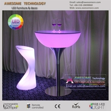 wholesales commercial bar furniture round led pub table