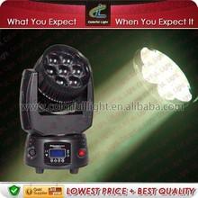 RGB LED Mini Moving Head zoom Lighting Disco DJ Show Stage Light 7*12.8W DMX/Auto