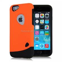 Newly design premium silicon case, cellphone case, PC+silica gel case for iphone 6/ iphone 6plus