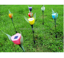 Solar Power LED Outdoor Yard Garden Path Way Tulip Landscape Flower Lamp Lights LED Solar Lights Lamp