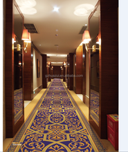 Machine made 100% Nylon printed shaggy carpet made in china carpet factory,cheap price for hotel corridor