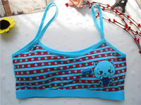 7164 Cheap Prices Factory direct wholesale cotton underwear for children fashion young girl bra size cup sexy Sponge bra